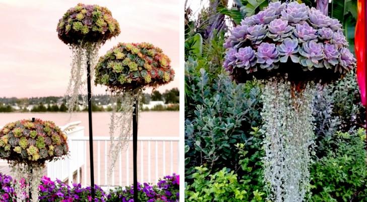 Diese Kompositionen verwandeln Ihre Sukkulenten in farbenfrohe Quallen zum Aufhängen