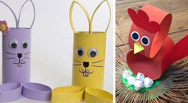 Pasqua: 14 trovate irresistibili per decorare utilizzando i rotoli di carta igienica