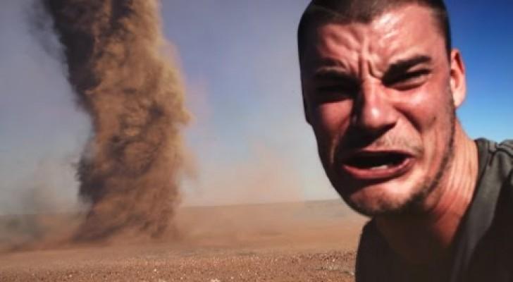 Esto es lo que sucede cuando se quiere desafiar a un tornado!
