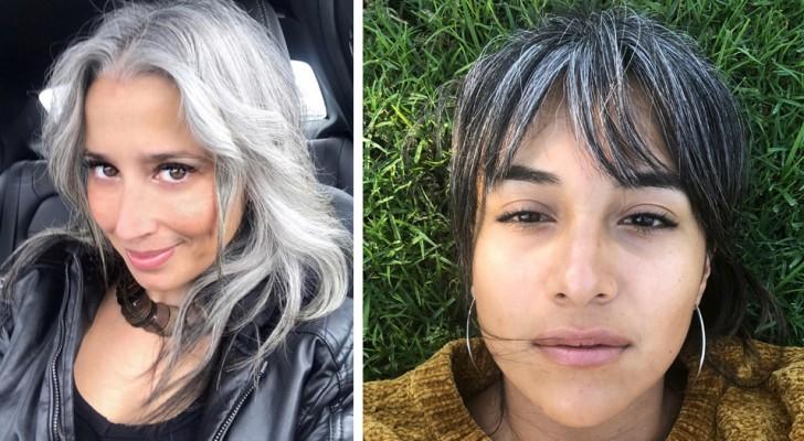Des femmes qui ont choisi d'arrêter de faire des teintures et de montrer fièrement leurs cheveux gris