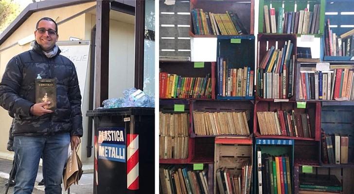 Dans cette librairie, on paie avec du plastique : quiconque apporte 10 bouteilles vides reçoit un livre