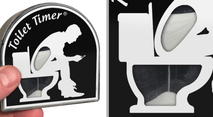 Arriva Toilet Timer, la clessidra che conta i minuti se trascorri troppo tempo chiuso in bagno