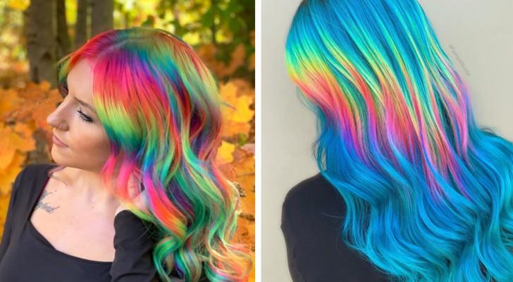 I capelli dalle tinte olografiche sono tornati di moda e sembrano essere la nuova tendenza del 2020