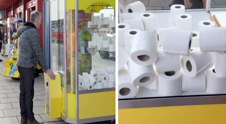 De basisbehoeften zijn zo gewild dat het in een speelhal mogelijk is om rollen wc-papier te