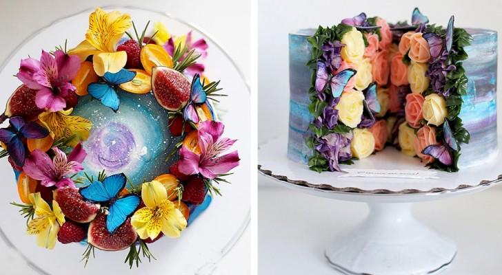 Questa pasticcera realizza delle torte artistiche in cui celebra la bellezza del cosmo e della Natura