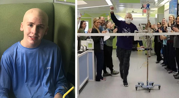 Joey, il 13enne in cura per il cancro che ha completato una particolare maratona tra le corsie dell'ospedale
