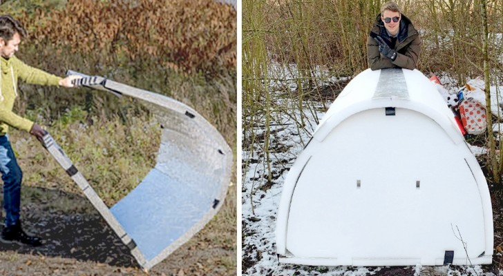 Ein Ingenieur hat Iglus für Obdachlose gebaut: Sie sind wasserdicht und halten die Körpertemperatur
