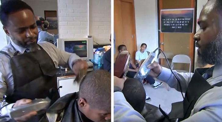 Un preside apre un negozio di parrucchiere nella scuola per entrare in confidenza con gli alunni più problematici
