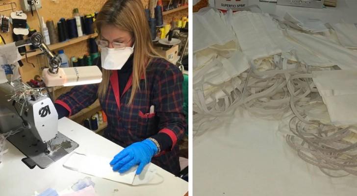A Gallipoli c'è una sarta che ha cucito senza sosta centinaia di mascherine da regalare ai più bisognosi