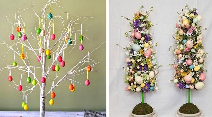12 spunti originali per realizzare splendidi alberi di Pasqua fai da te