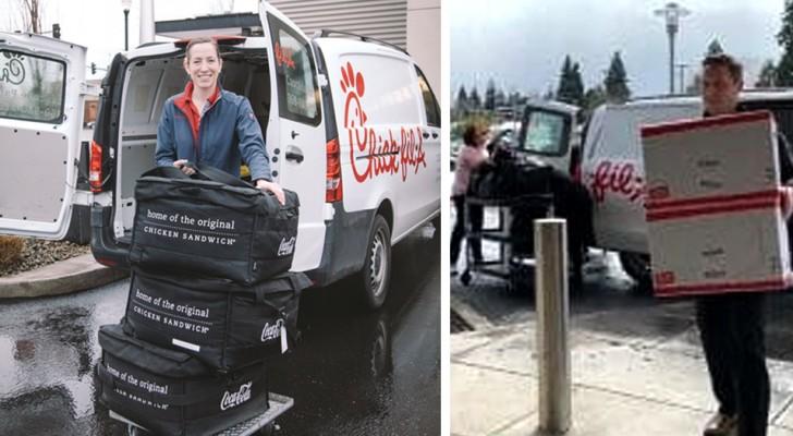 Una catena di ristoranti consegna 1000 pasti a medici e infermieri in lotta contro il Coronavirus