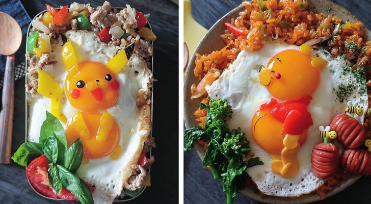 Una mamma giapponese usa le uova fritte per portare in vita i cartoni animati più amati dai bambini