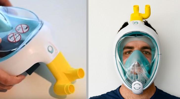 Covid-19 : un ingénieur transforme les masques de plongée Decathlon en respirateurs pour hôpitaux