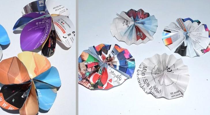 5 tecniche facilissime per realizzare fiori con ritagli di carta di ogni tipo