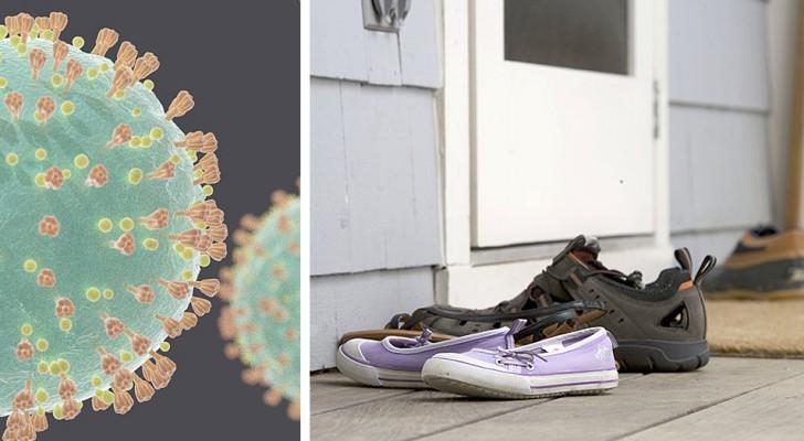 Covid-19: lasciare le scarpe fuori di casa quando possibile è importante per proteggere noi e gli altri