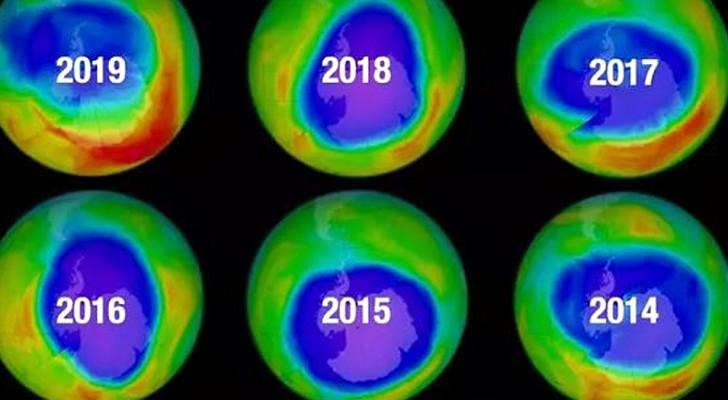 Die wissenschaftliche Forschung bestätigt: Die Ozon-Schicht, die die Erde umgibt, heilt