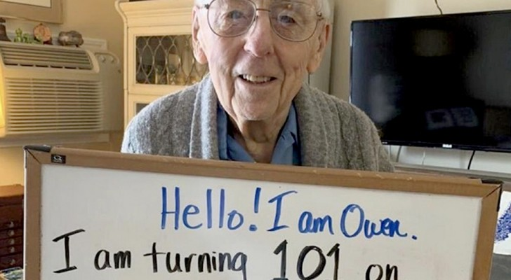 He can't celebrate 101 years because of Coronavirus: so he asks friends from social networks to give him 101 congratulations