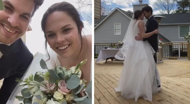 Coronavirus: se casan a través de una transmisión en vivo para poder sentir cerca a sus seres queridos el dia del matrimonio