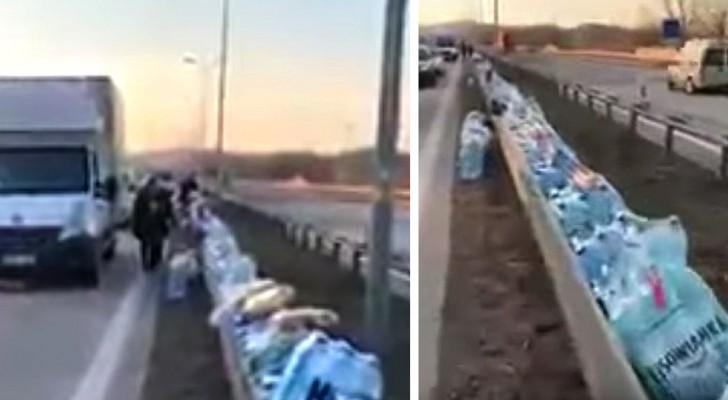 Coronavírus: na Alemanha algumas pessoas deixam comida e bebida no acostamento para os caminhoneiros