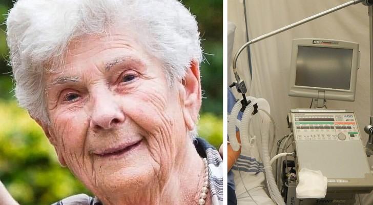 A sus 90 años es hospitalizada por el Coronavirus, pero rechaza al respirador pulmonar: