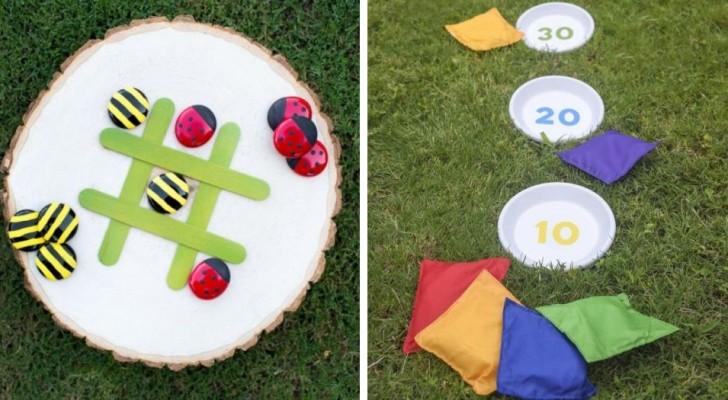 7 brillanti giochi fai da te con cui divertirsi in giardino, perfetti per grandi e piccoli