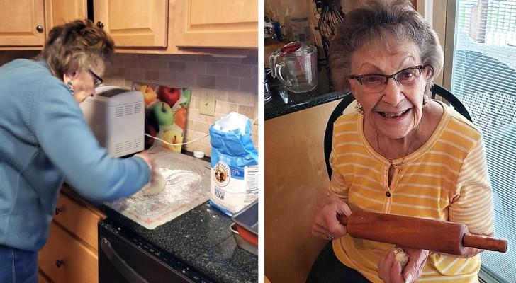 Aislamiento creativo: esta abuelita de 97 años ha abierto un canal de receta para compartir los platos que prepara
