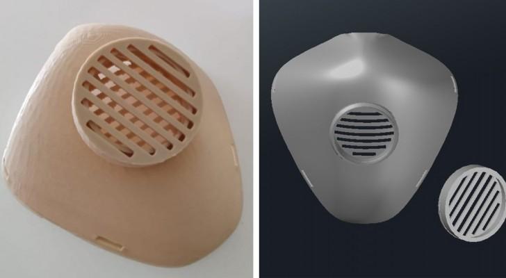 Un ragazzo di Bari ha ideato delle mascherine da stampare in 3D, riutilizzabili e con filtro intercambiabile