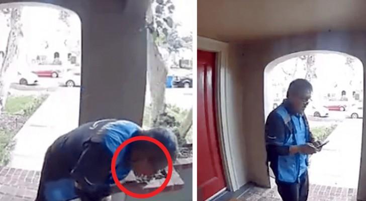 Coronavirus, un livreur se fait renvoyer après qu'une caméra l'attrape en train de souiller un colis avec sa salive