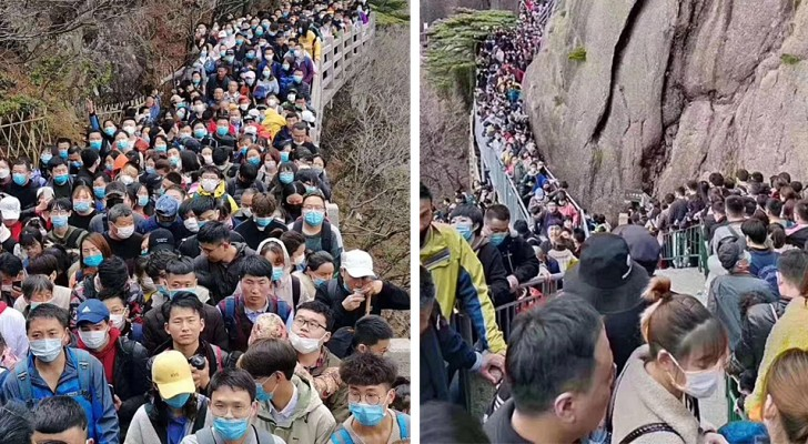 Chine : plus de 20 000 personnes entassées pour entrer dans un parc qui a rouvert après les fermetures liées au Covid-19