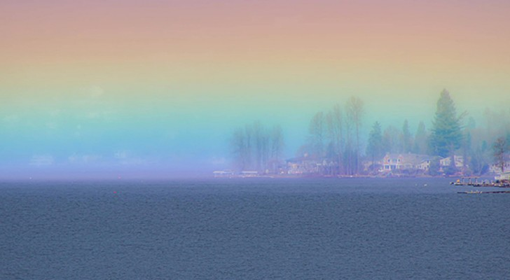 Elle photographie un très rare arc-en-ciel horizontal à l'aube : une image spectaculaire et pleine d'espoir