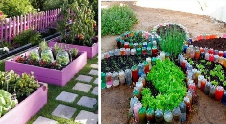 10 ottime soluzioni fai-da-te per creare orti belli e colorati come giardini