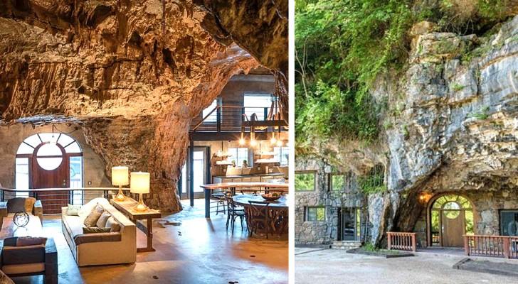 Ein in einer echten Höhle gebautes Haus: das perfekte Zuhause für diejenigen, die natürliche, aber elegante Atmosphären lieben