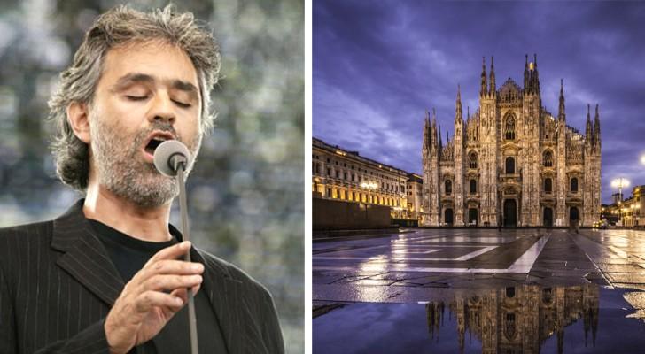 Andrea Bocelli håller konsert i Milanos domkyrka på påskdagen och hela världen kommer att kunna streama föreställningen