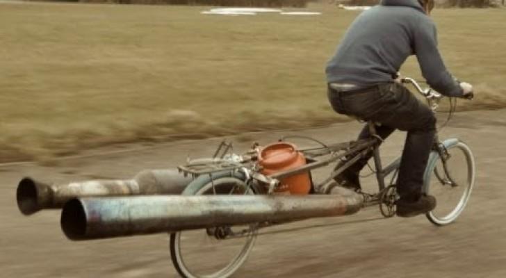 Ein normales Damenrad wird zum supergefährlichen Fortbewegungsmittel