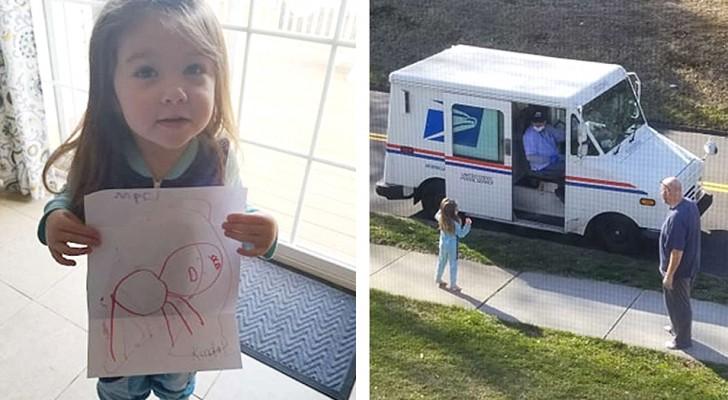 Een meisje schrijft haar hond die er niet meer is: de dag erna geeft de postbode haar een bedankbrief