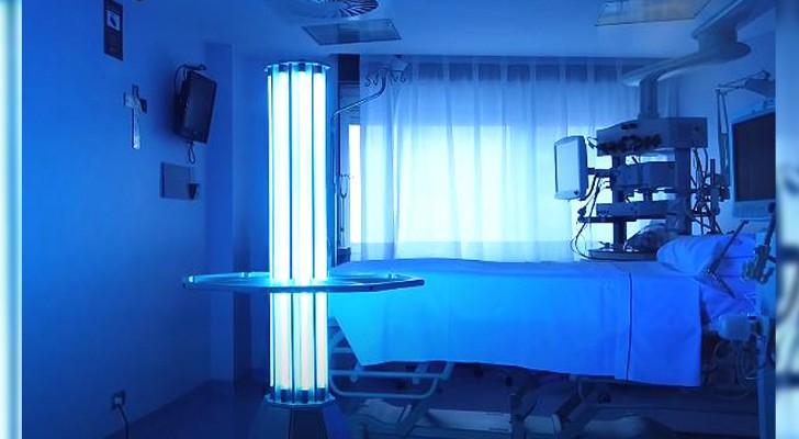 Covid-19: un macchinario a raggi UV riesce a disinfettare gli ambienti ospedalieri in pochi minuti