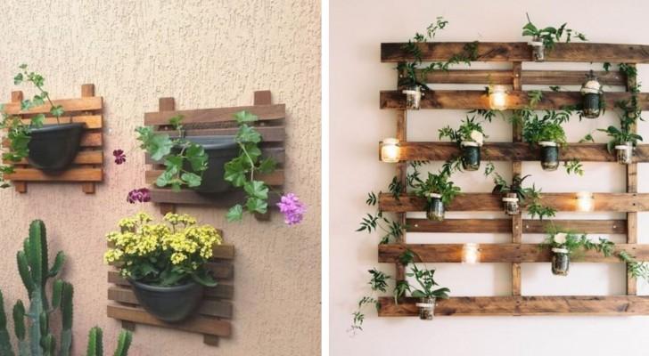 10 fantastiques jardinières fabriquées à partir de palettes, idéales pour créer de petits coins verts à la maison et à l'extérieur