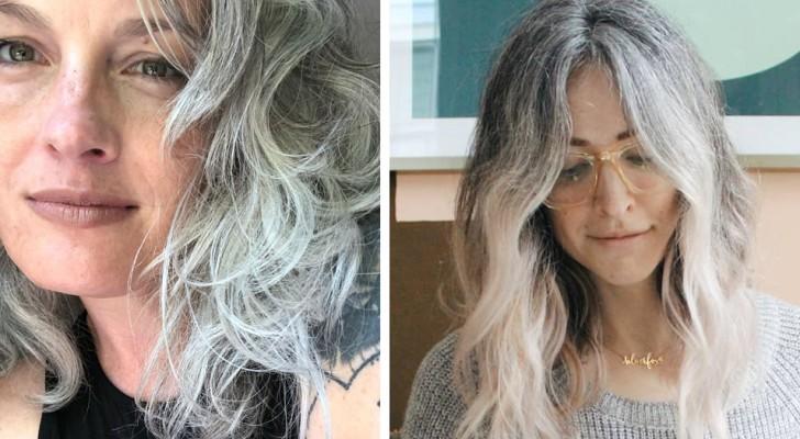 Immer mehr Frauen verzichten aufs Haarefärben, um ihre natürliche Haarfarbe zu zeigen: Weiß und Grau sind jetzt in