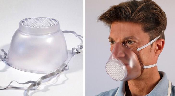 Een Italiaans bedrijf creëert transparante, wasbare en herbruikbare maskers door de productie van koffers om te zetten
