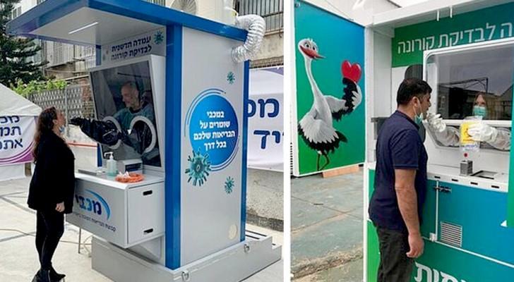 Coronavirus : en Israël, le succès des cabines mobiles pour tester la population