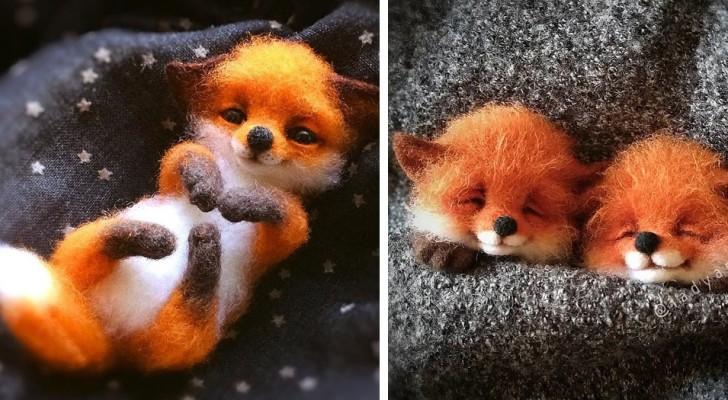 Questa ragazza realizza degli animaletti in lana cardata così piccoli, che si tengono nel taschino della giacca