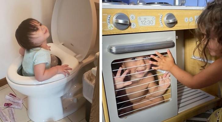 15 foto divertenti mostrano quanto possa essere difficile trascorrere la quarantena in casa con i propri figli