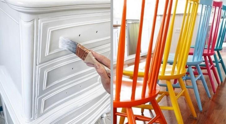 9 originelle Ideen, um alte Möbel zu bemalen und eurem Zuhause einen frischen Look zu verleihen