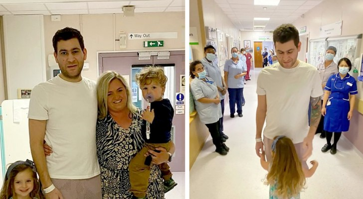 After 8 weeks on a ventilator, a dad is cured of Covid and returns in time for his son's birthday