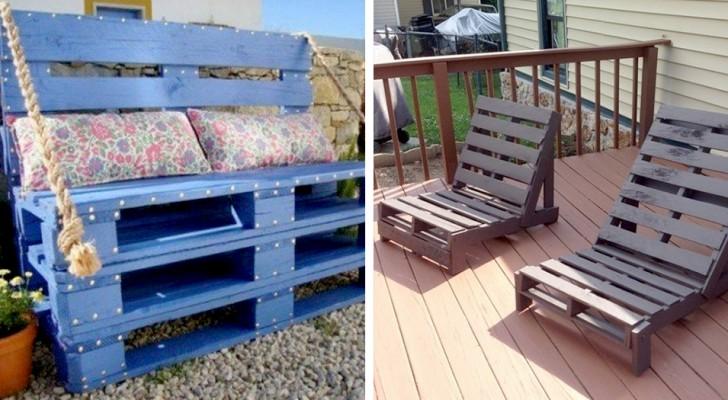 8 idées pratiques et originales pour décorer votre jardin à l'aide de palettes