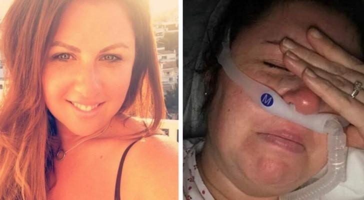 A enfermeira contraiu o Covid-19: com suas últimas forças, ela implora a seus colegas que salvem sua vida para poder ver seus filhos novamente