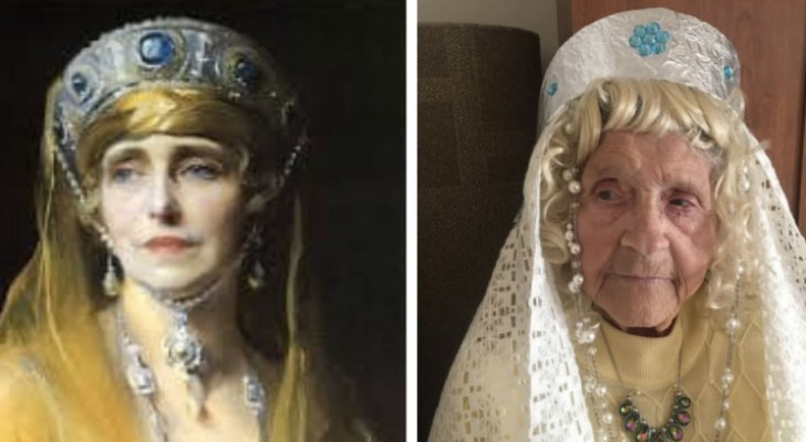 Anziani di una casa di riposo ricreano 11 opere d'arte famosissime, una più divertente dell'altra