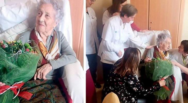 Op 113-jarige leeftijd verslaat ze Covid-19 alleen met milde symptomen: het is de oudste vrouw in Spanje die herstelt van het virus