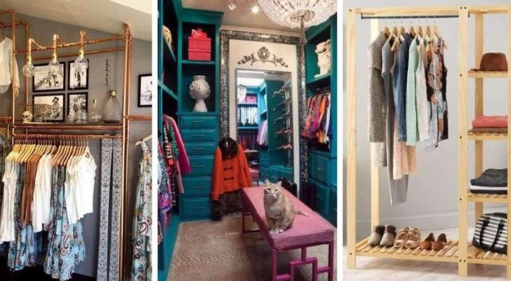 12 trovate geniali per ricavare una cabina armadio in una stanza piccola o in un angolo di casa
