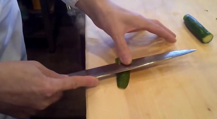 Servindo obras de arte feitas com comida